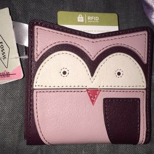 Fossil Owl Wallet w/RFD protection